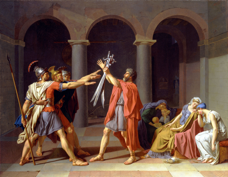 Jacques-Louis David. Oath Horatii