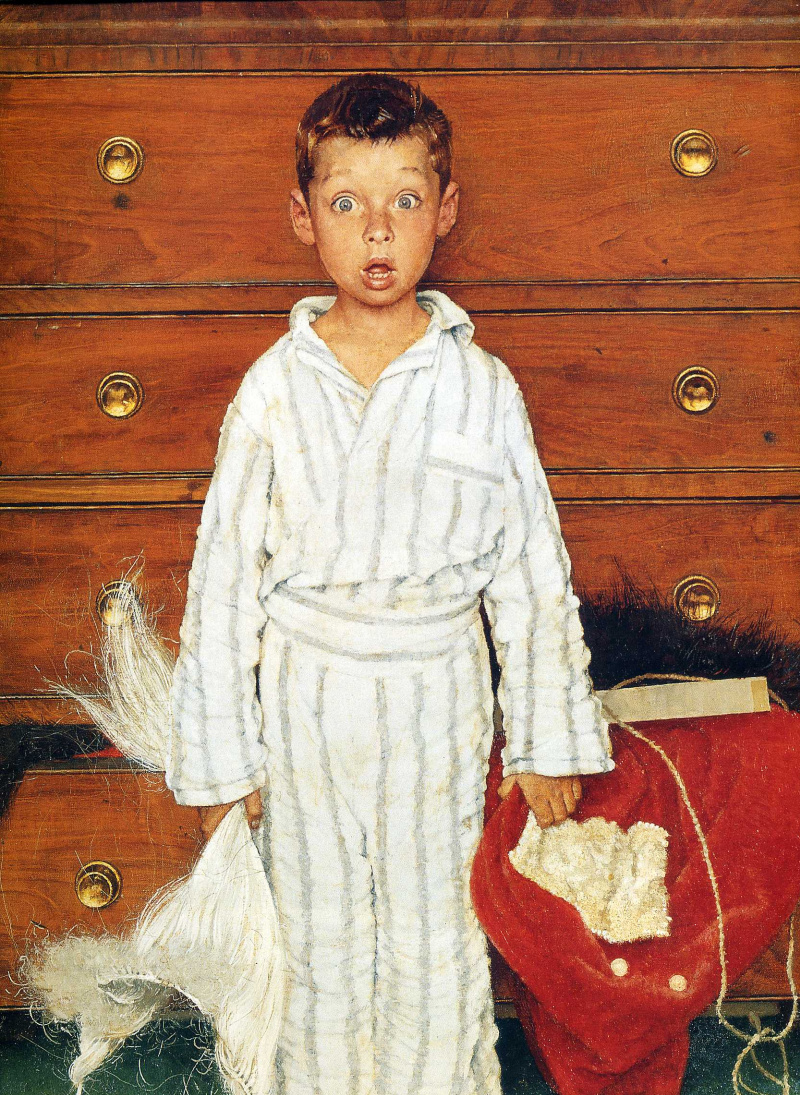 Norman Rockwell. Discovery. Fragment