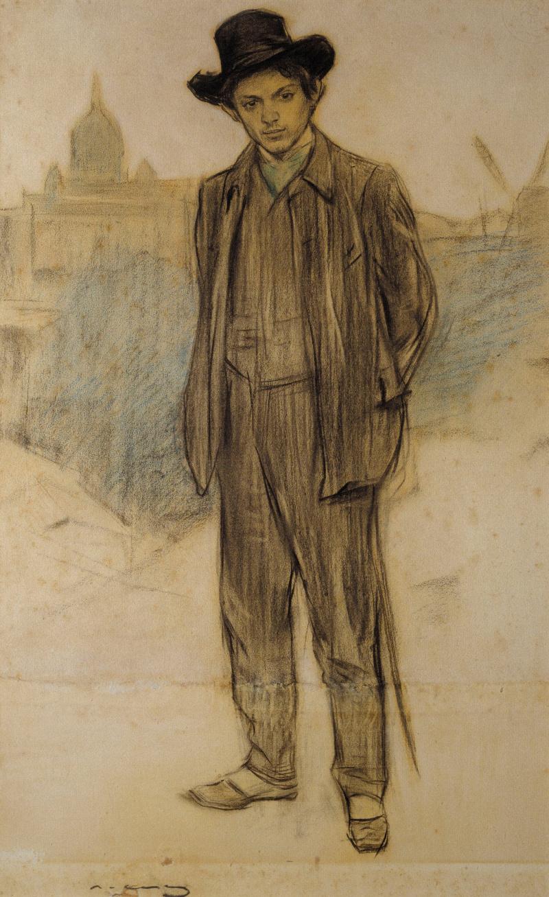 Ramon Casas i Carbó. Portrait of Pablo Picasso