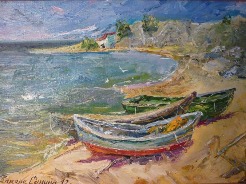 Тамара Санина. Лодки в Золотом