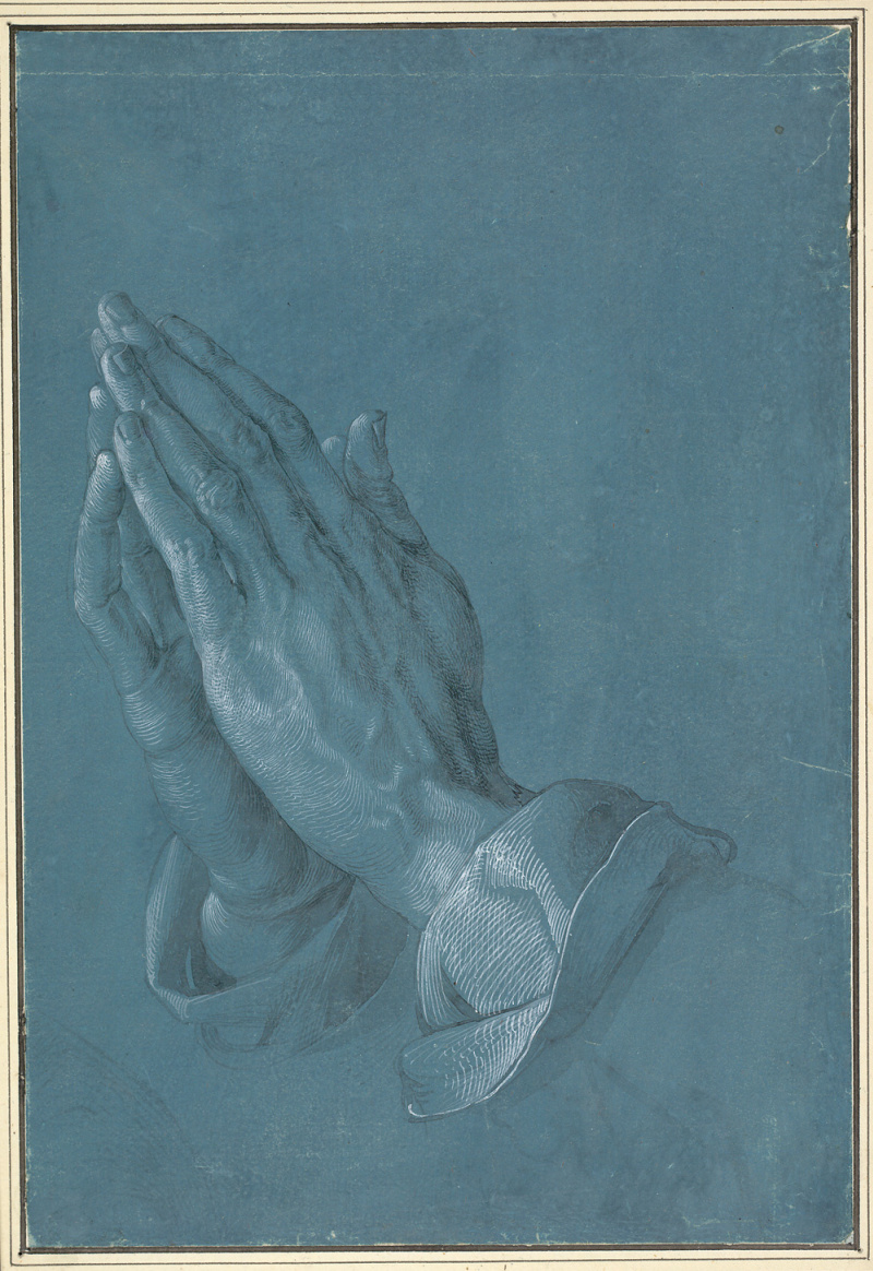 Albrecht Durer. Praying hands (the hands of the Apostle)