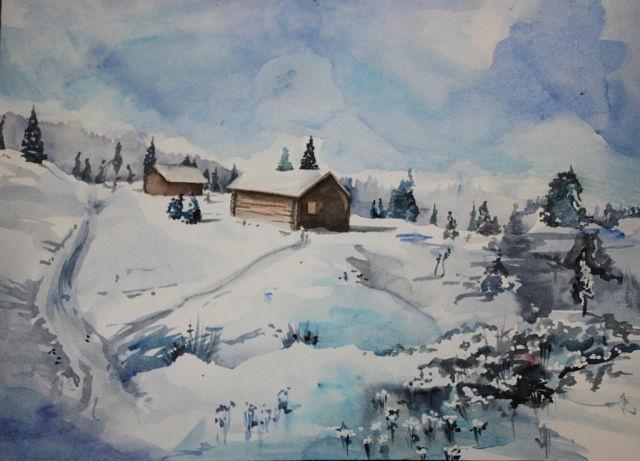 Анастасия Толстолужинская. Зима