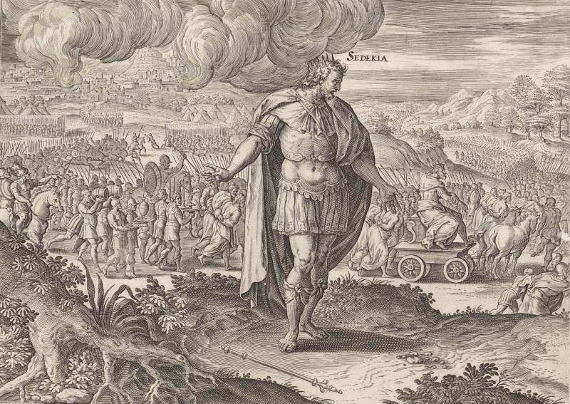 Jan van Snellink. King Zedekiah and the destruction of Jerusalem