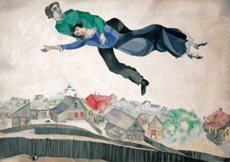 Marc Chagall. Over the city