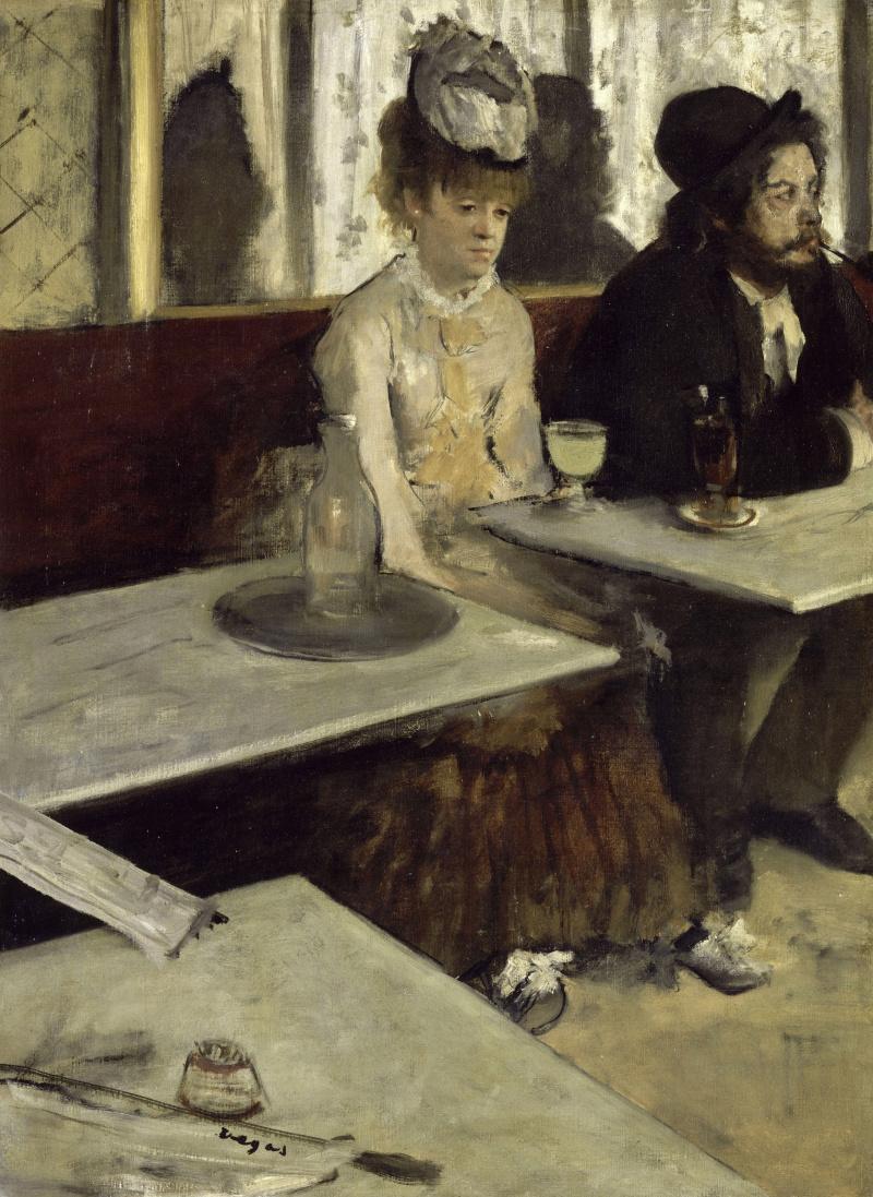 Edgar Degas. Absinthe (In the cafe)