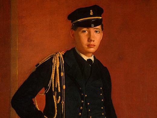 Эдгар Дега. Портрет Акилле Де Газа в мундире кадета ( фрагмент)