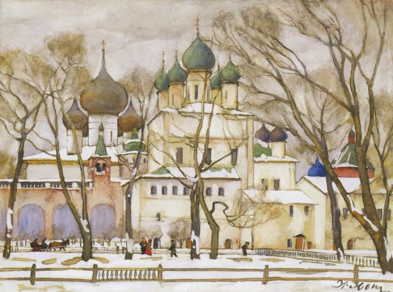 Константин Федорович Юон. Ростовские соборы