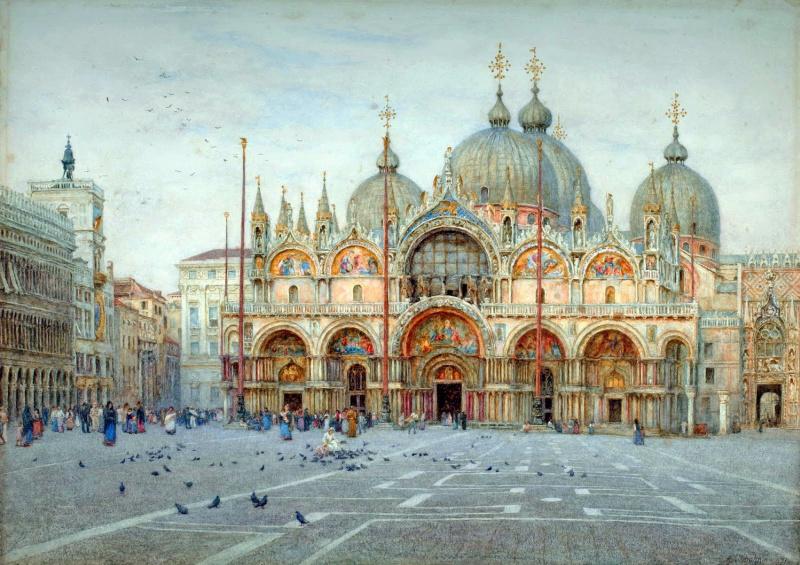 Helen Allingham. San Marco, Venice