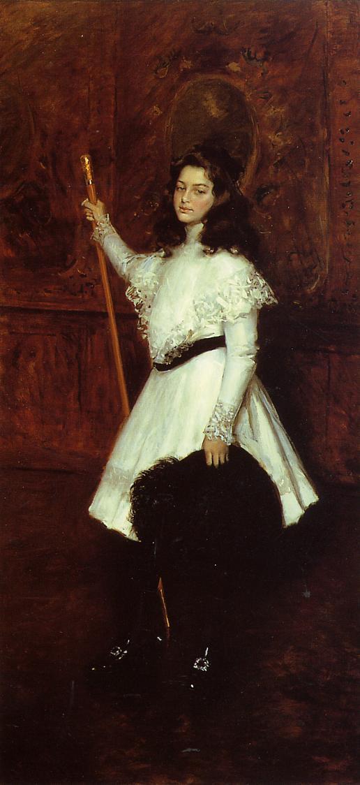 Уильям Меррит Чейз. Девушка в белом или портрет Ирен Димокк