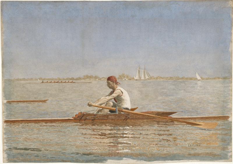 Thomas Eakins. John Biglin in the boat alone