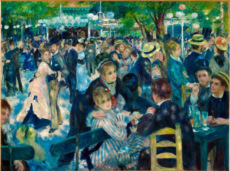 Pierre Auguste Renoir. Ball at the Moulin de La Galette