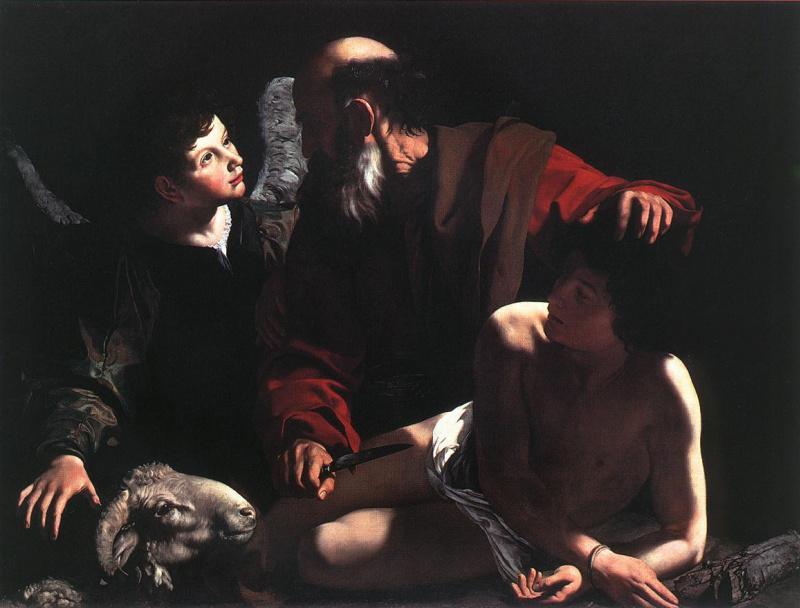 Микеланджело Меризи де Караваджо. Жертвоприношение Исаака