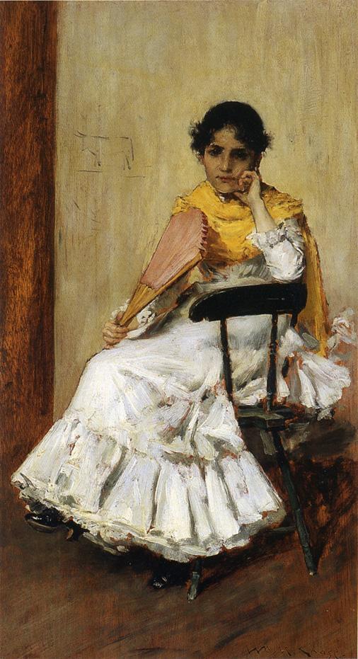 Уильям Меррит Чейз. Испанская девушка. Портрет миссис Чейз в испанском платье
