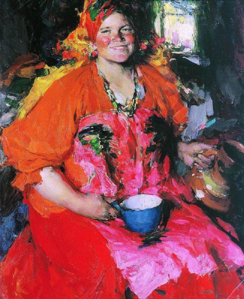 Abram Arkhipov. Girl with a jug