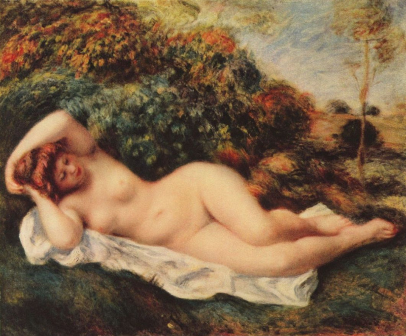 Pierre Auguste Renoir. Sleeping bather