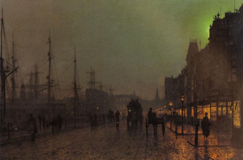 John Atkinson Grimshaw. Evening on the pier