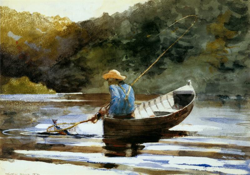 Томас Икинс. Мальчик-рыбак