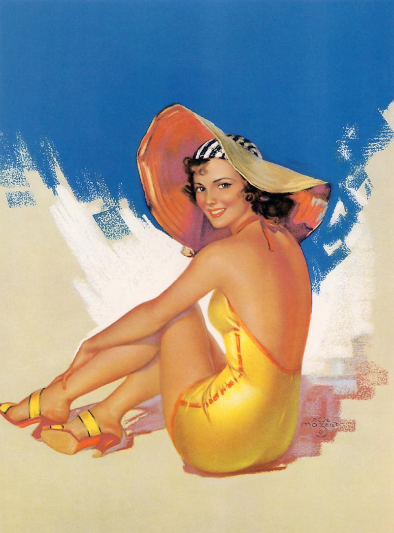 Открытки девушек в купальниках, одной открытки