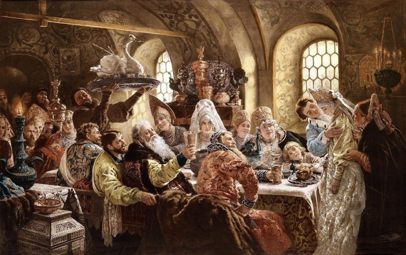 Konstantin Makovsky. Boyar wedding feast in the XVII century