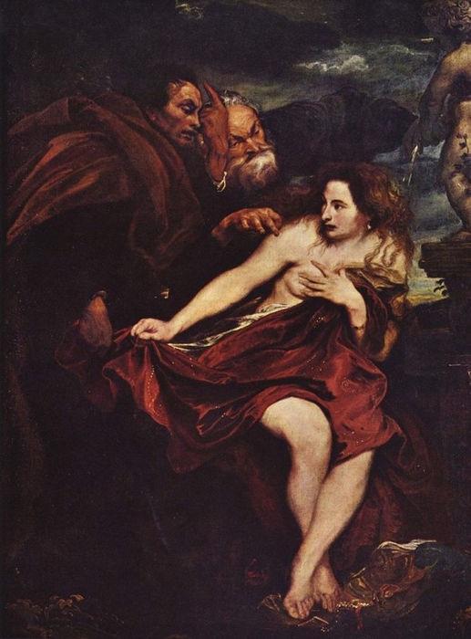 Антонис ван Дейк. Сусанна и старцы. Антонис ван Дейк, 1622-23
