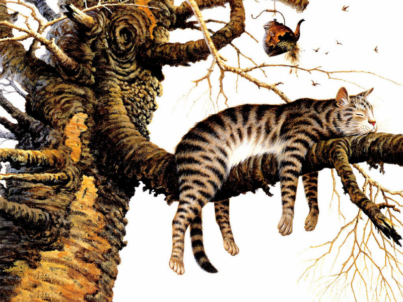 Чарльз Высоцкий. Кот на дереве