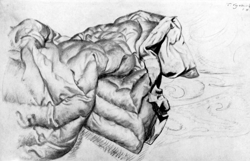 "Boris Mikhailovich Kustodiev. Pattern blankets for the painting ""Beauty"""