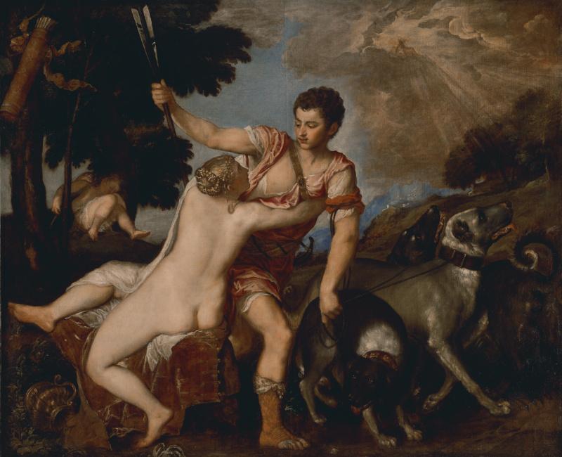 Тициан Вечеллио. Венера и Адонис