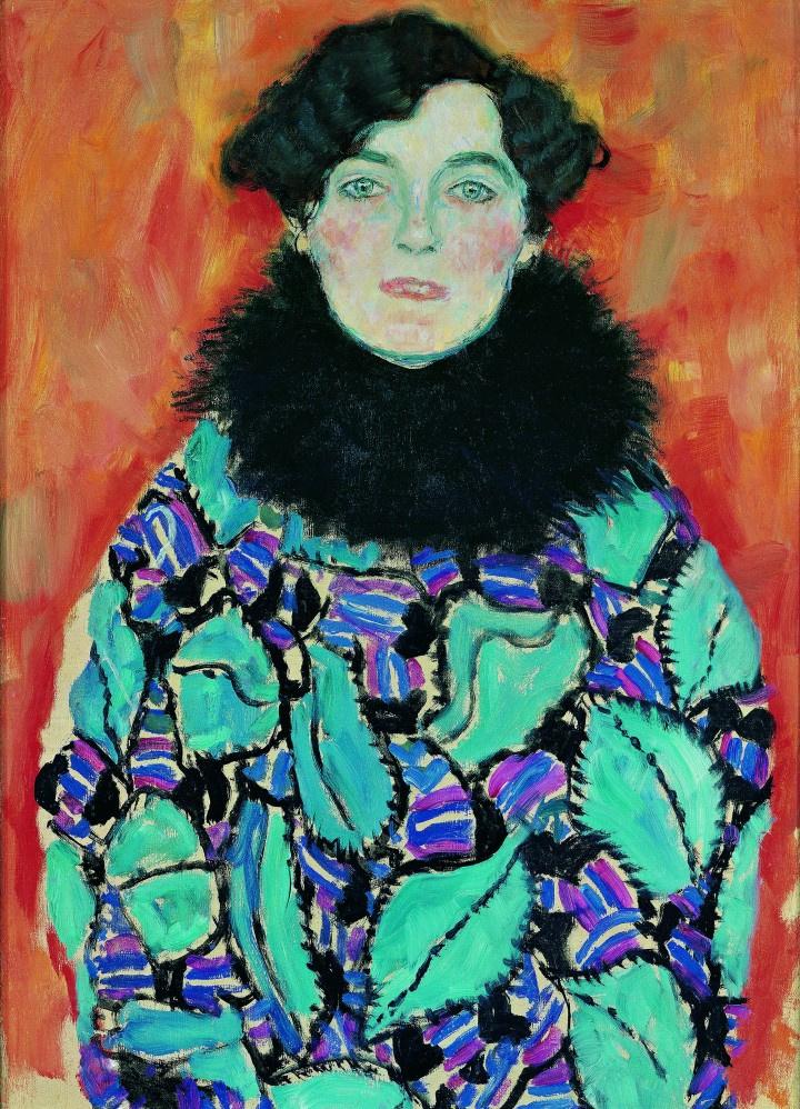 Густав Климт. Портрет Иоганны Штауде (незавершенное)