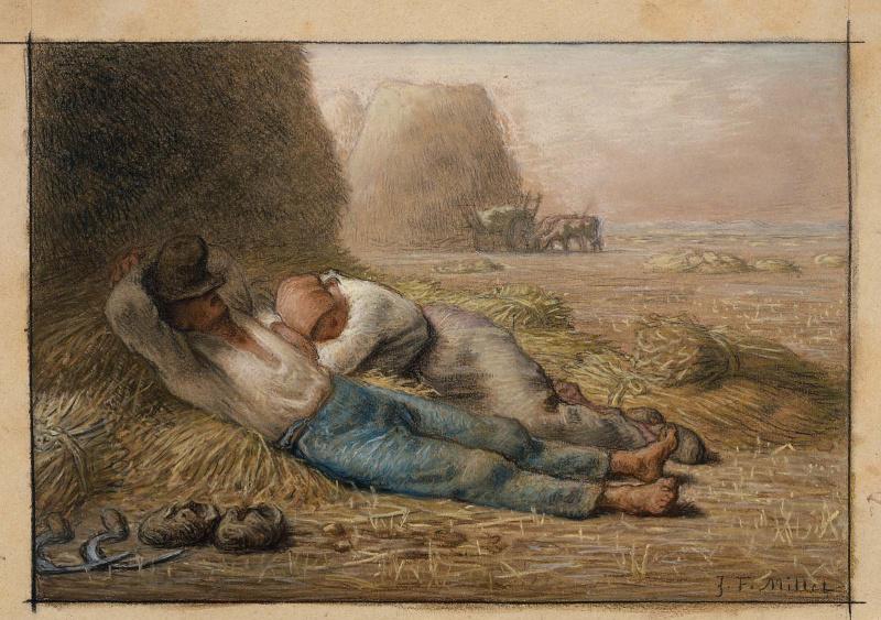 Jean-François Millet. Midday Rest (Siesta)
