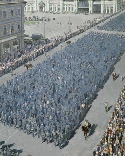 Алексей Сергеевич Михайлов. Пленные в Москве. Июнь 1944г