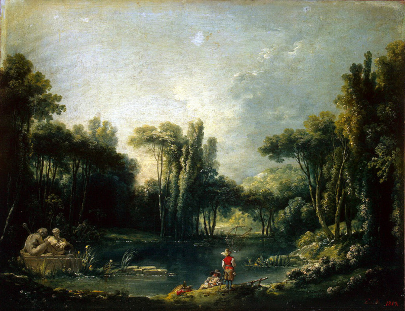 Франсуа Буше. Пейзаж с прудом