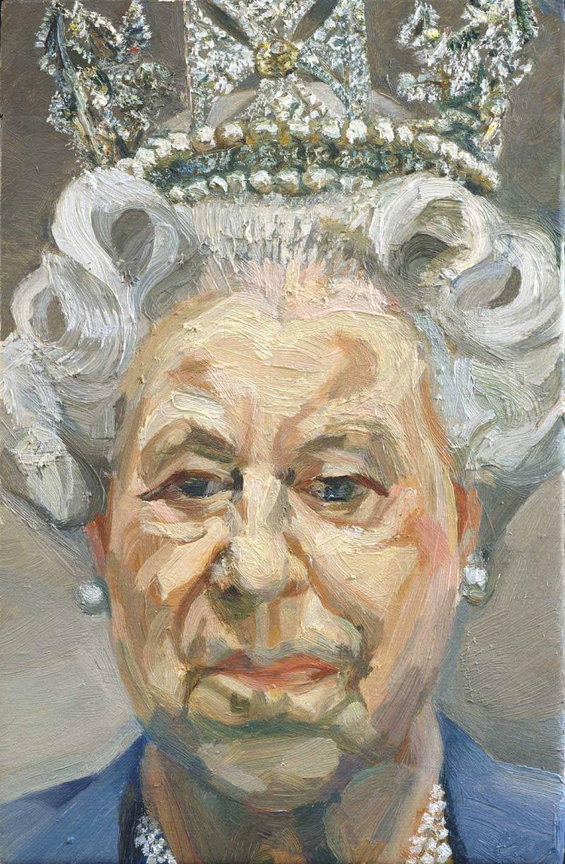 Lucien Freud. Her Majesty Queen Elizabeth II