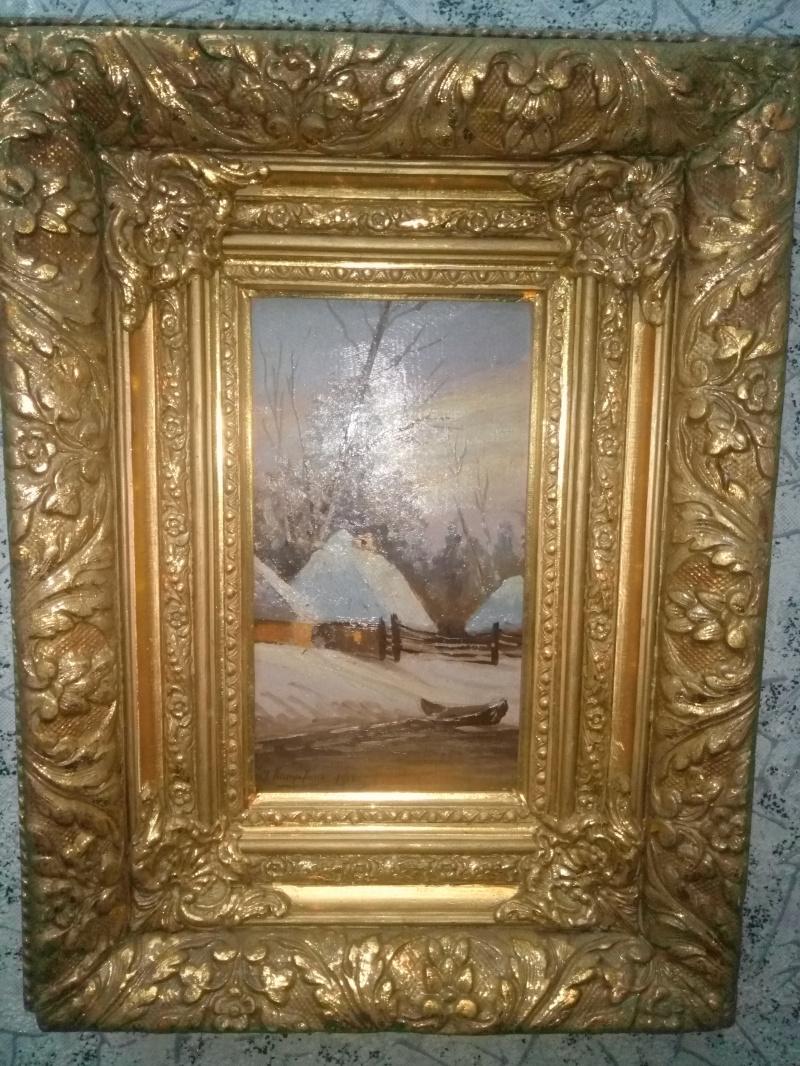 "Grigory Ivanovich Kapustin. ""Winter landscape"" (expert opinion)"