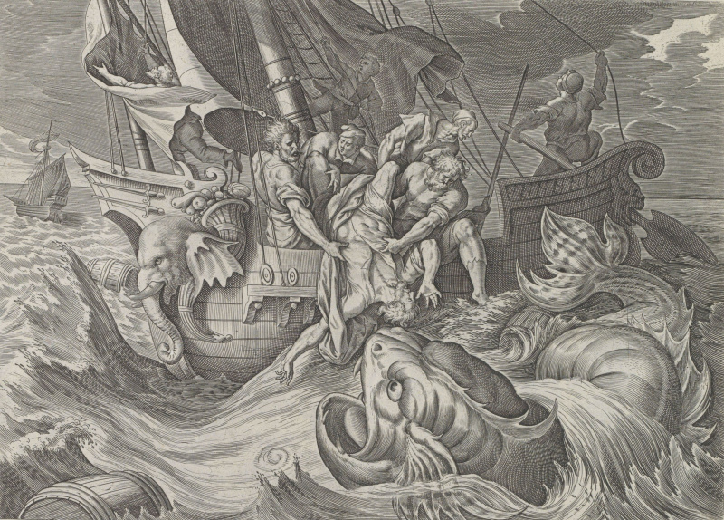 Anthony Weerix. Jonah is thrown overboard
