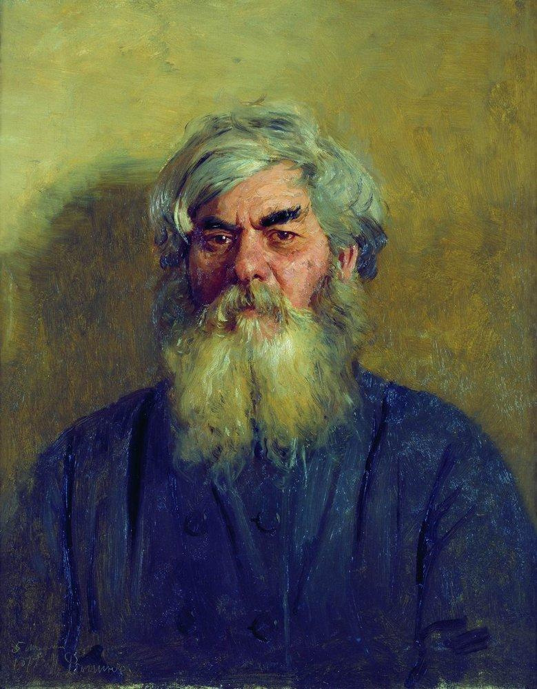 Ilya Efimovich Repin. A man with an evil eye