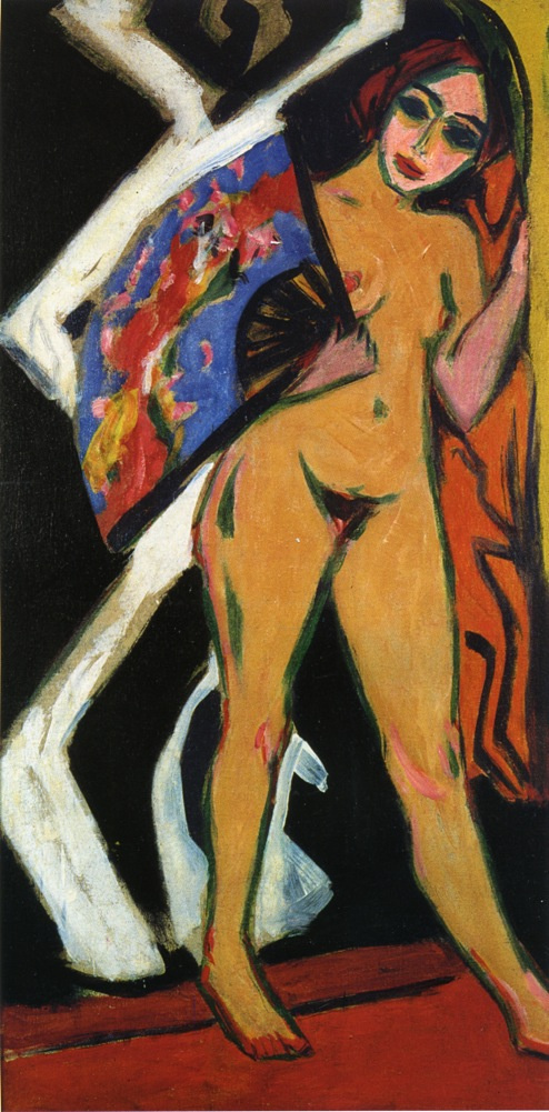 Ernst Ludwig Kirchner. Dodo with large fan