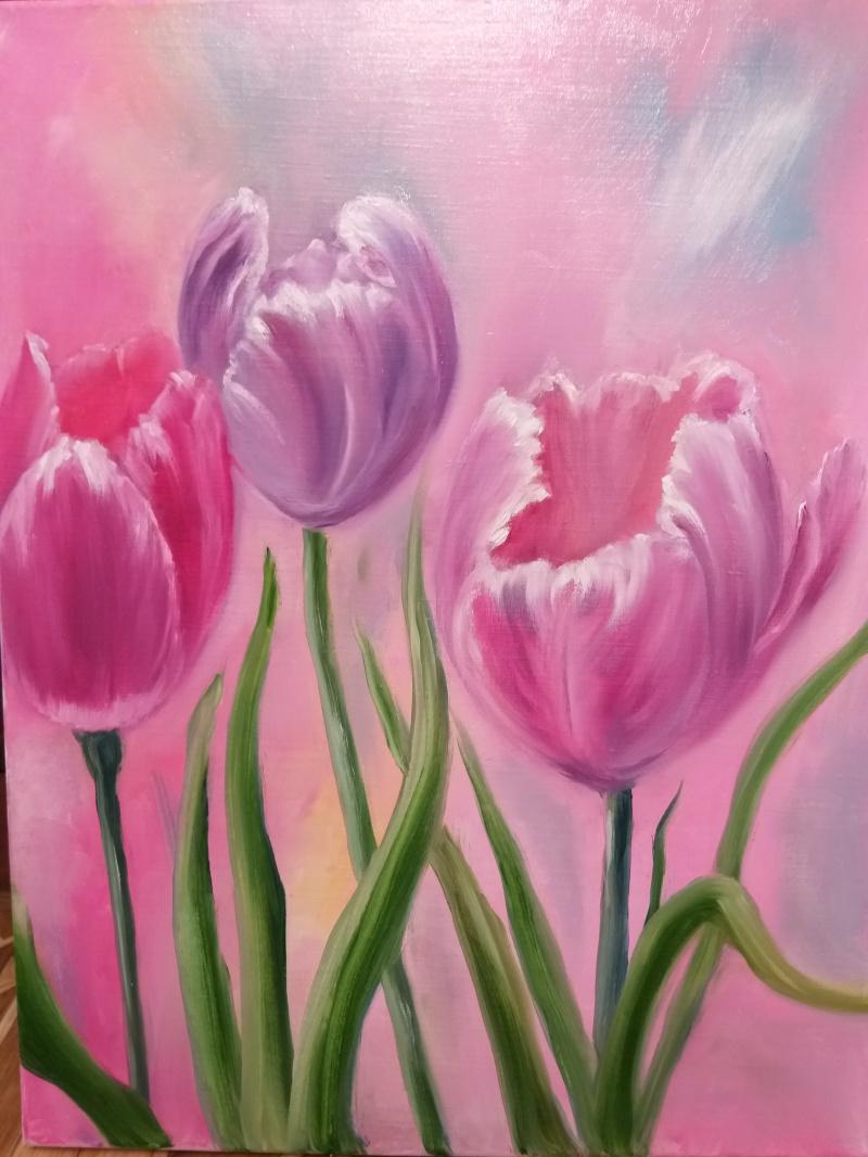 Valeria Kostromina. Picture Bright tulips