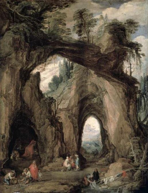 Йос де Момпер Младший. Цыгане у горной пещеры