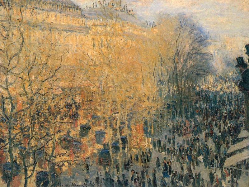 Claude Monet. Boulevard des Capucines in Paris