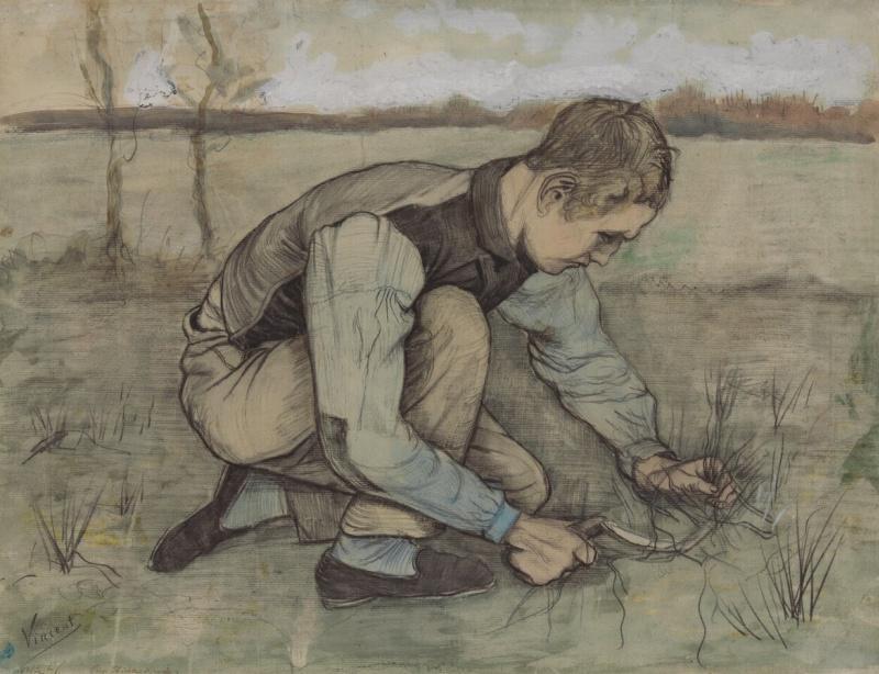 Винсент Ван Гог. Мальчик с серпом