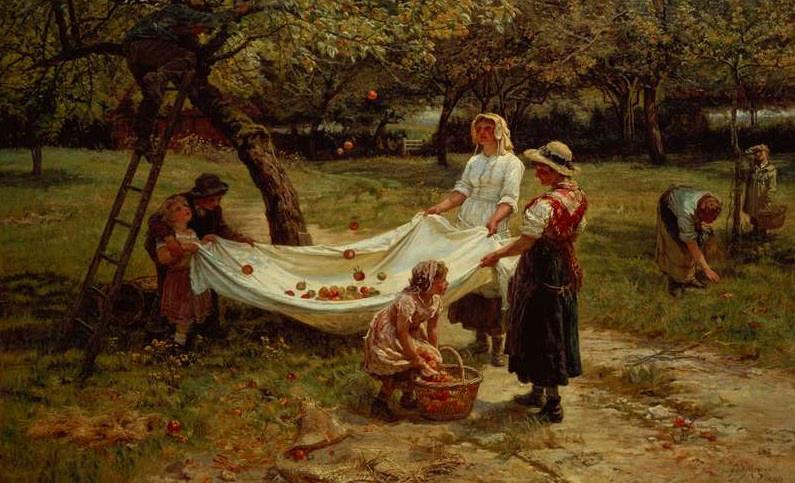Frederick Morgan. Apple picking