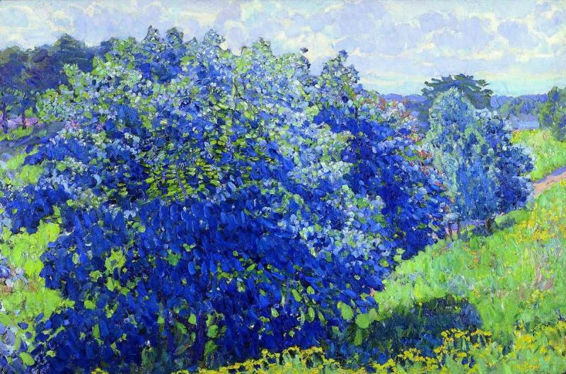 Konstantin Fedorovich Yuon. Blue hive