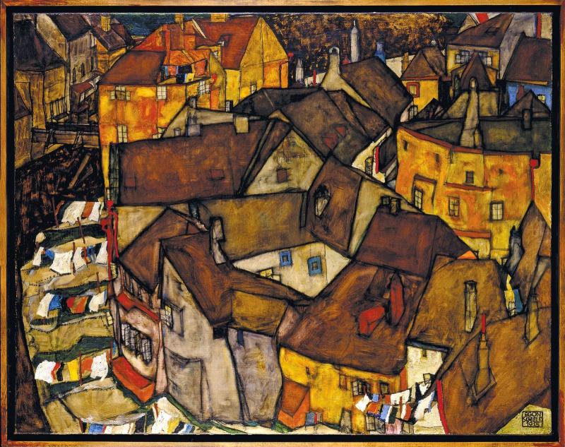 Egon Schiele. Krumau. Crescent I