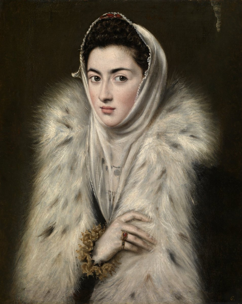 Alonso Sanchez Coello. The Lady in a Fur Wrap