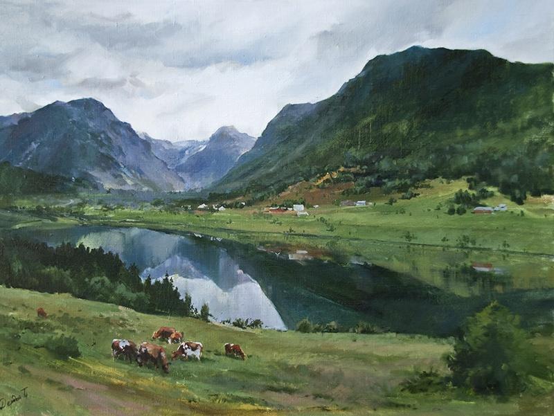 Tatyana Dready. Norwegian pastures