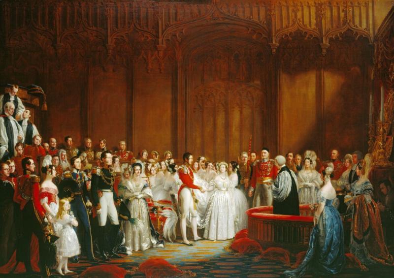 Джордж Хейтер. Венчание королевы Виктории 10 февраля 1840 года