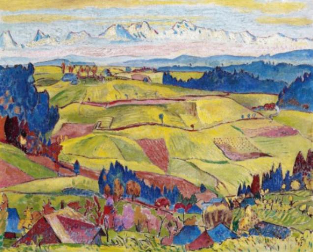 Куно Амье. Пейзаж с холмами