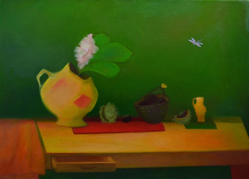 """Julia Dmitrievna Astrovskaya. """"Still life with chestnuts"""" from the series """"Simple Things"""""""