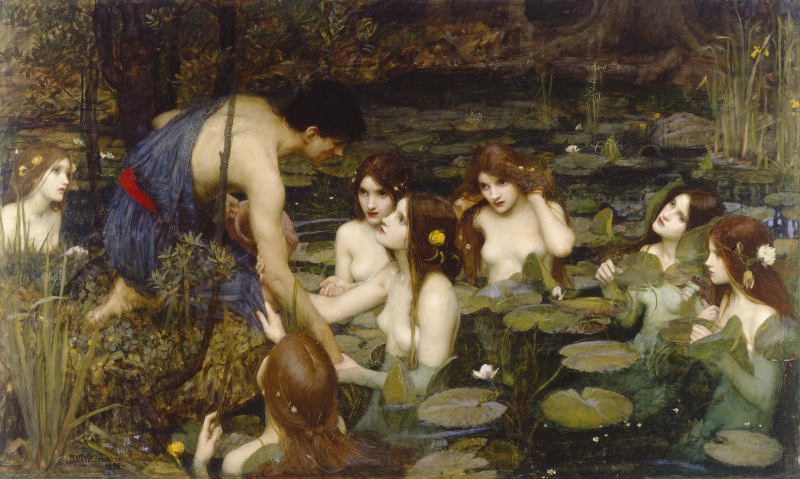John William Waterhouse. Hylas and the nymphs
