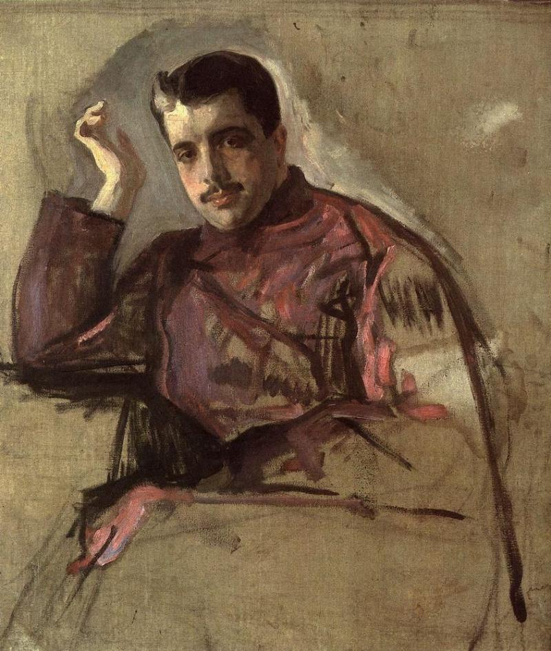 Valentin Aleksandrovich Serov. Portrait Of Sergei Diaghilev
